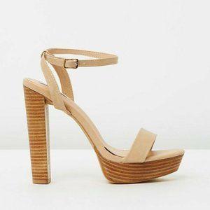 Dazie 'Hazel' Strappy Platform Heels Size 37